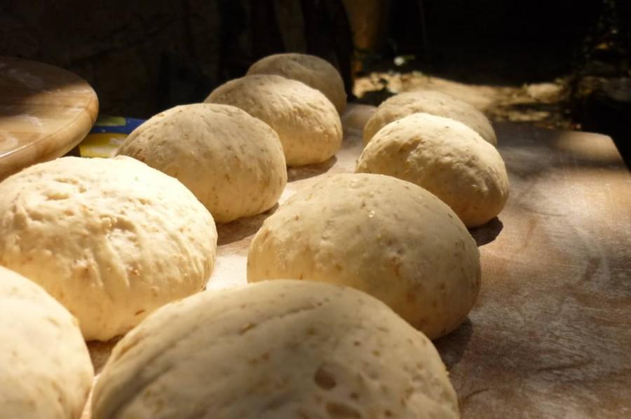 Il pane semi-integrale durante l'ultima fase della lievitazione