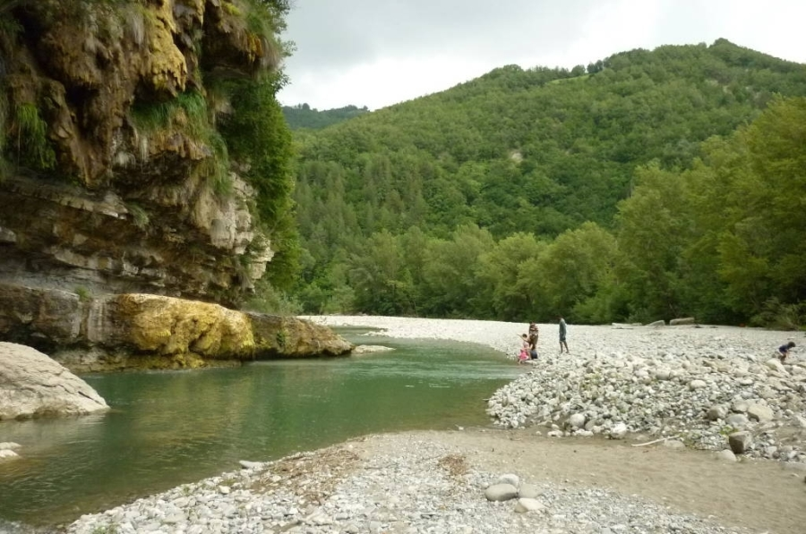 De rivier Enza, heerlijk om te zwemmen