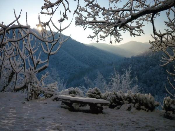 La vista dalla Fossa durante l'inverno