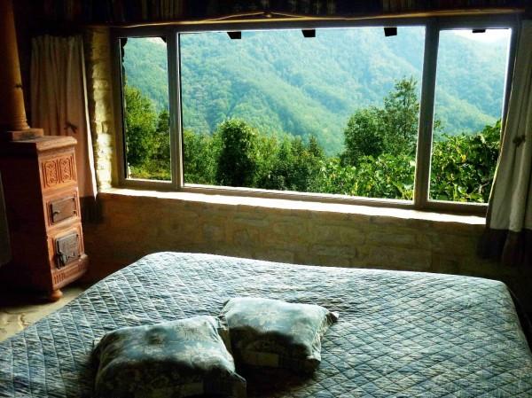 La vista spettacolare dal letto della casa piccola