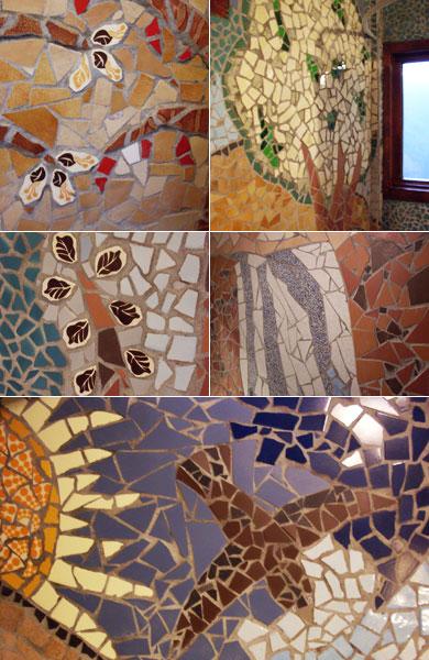Mosaici nel bagno della casa piccola b b la fossa - Nel bagno della scuola ...