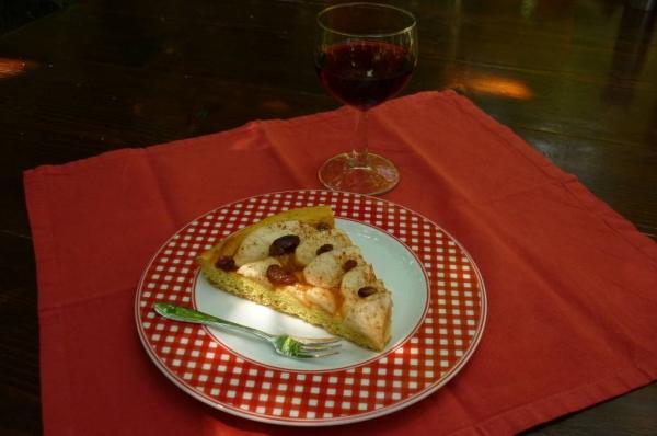 Ottima per colazione o per uno spuntino accompagnata da un bel bicchiere di vino amabile