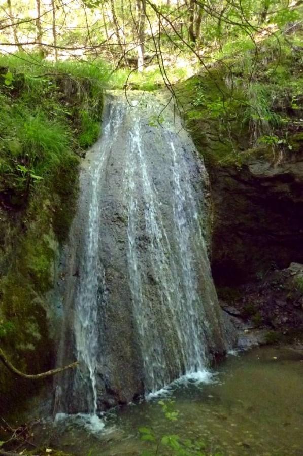 La seconda cascata più in alto.