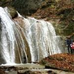 De waterval van de Dassen Vallei