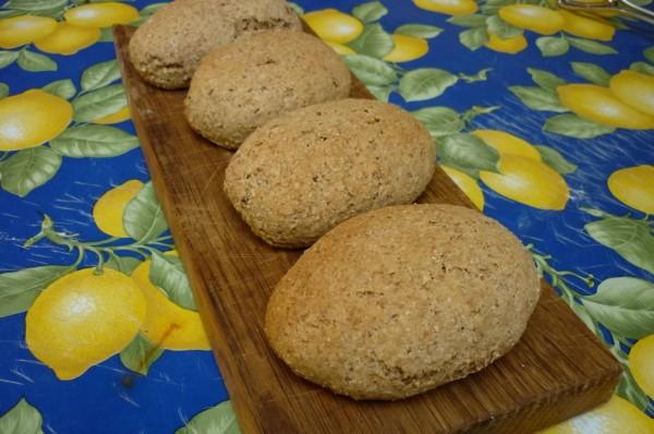 Volkoren brood gebakken