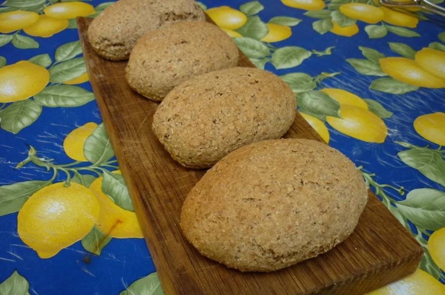 Il pane integrale sfornato