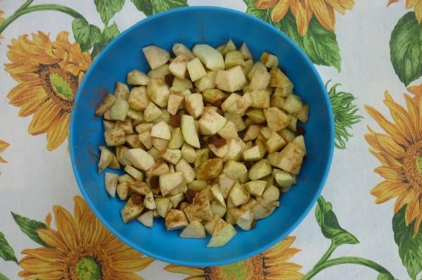 preparazione delle mele