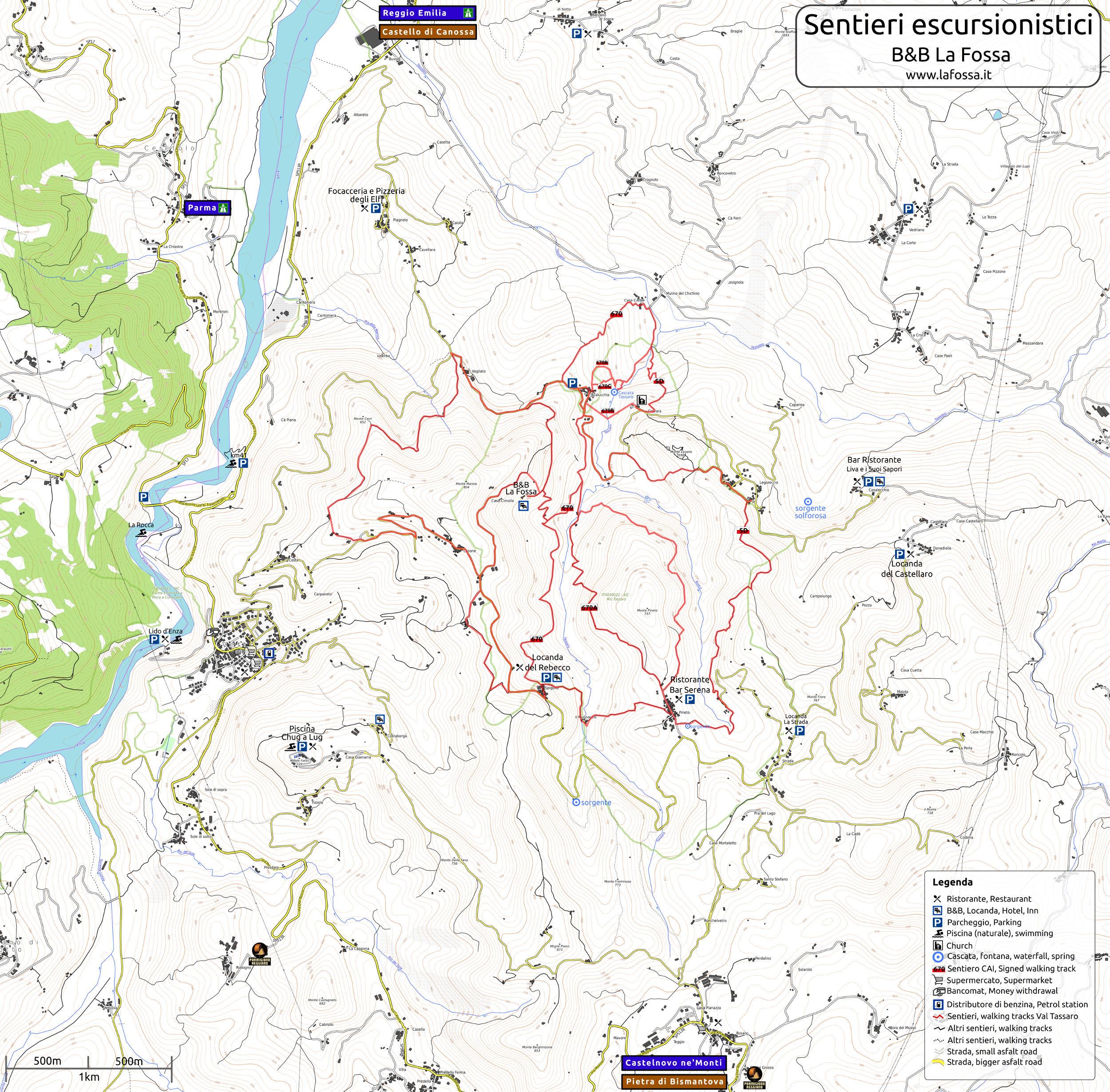 Mappa completa della Val Tassaro